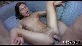 Sexually excited lady widens her legs