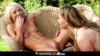 Mom Teaching Daughter How To Orgasm Part 2