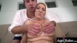 Rob leaves granny Bibi with a jsticky facial