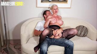 AMATEUR EURO - Big Tits MILF Manu Magnum Blows And Bangs On Her First Sex Tape Ever