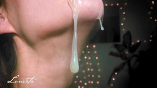 Enthusiastic Close Up Blowjob w/ Throbbing Cum In Mouth - Pulsating Dick