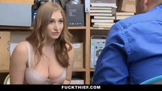 Big Boobs Thick Teen Teases Officer to Avoid Jail