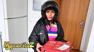 MAMACITAZ - (Lucero Perez & Charles Gomez) Latina Pizza Girl Gets Cock From A Customer